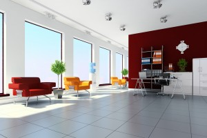 3d modern office interior design